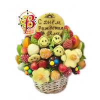 Детские фруктовые букеты