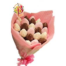 Букет из клубники в шоколаде №1