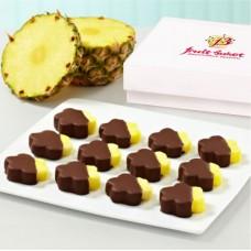 Цветы из ананаса в шоколаде